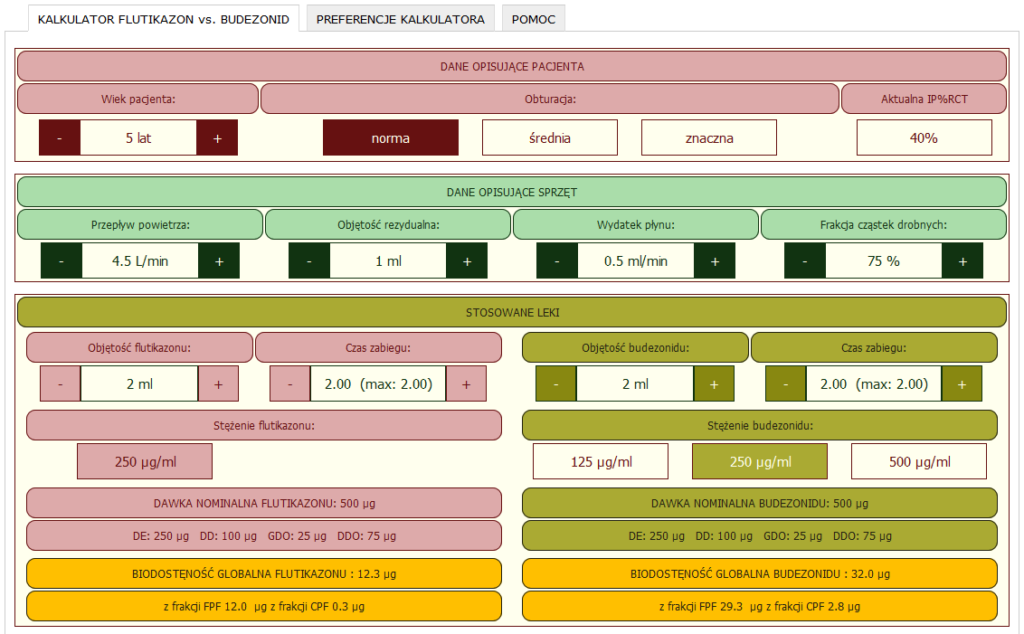Porównanie budezonidu i flutikazony i biodostepności obu leków