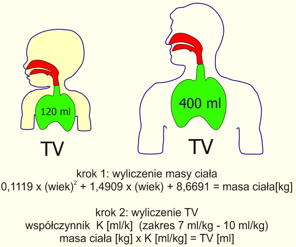 Obliczenia objętości oddechowej TV