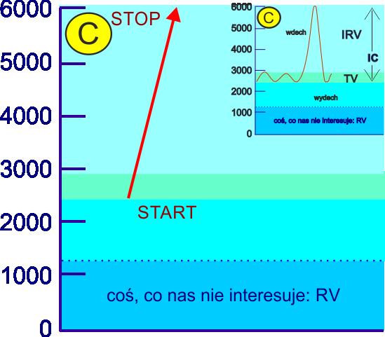 aerozoloterapia efektywność inhalacji objętością TV pogłębiona wdechem